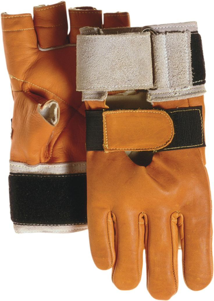Majestic 1900 Heavy Cowhide Leather Anti Vibration Gloves Fingerless