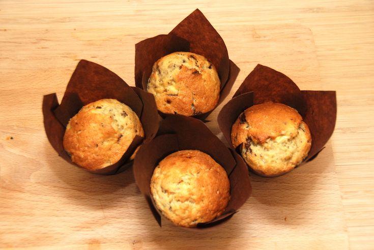 Bananmuffins med chokolade - de bedste muffins