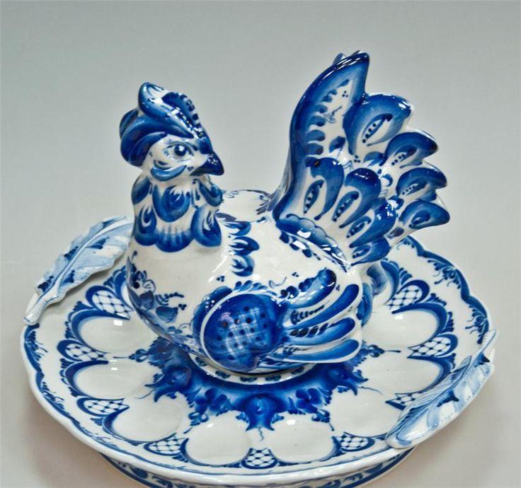Russian Gzhel porcelain