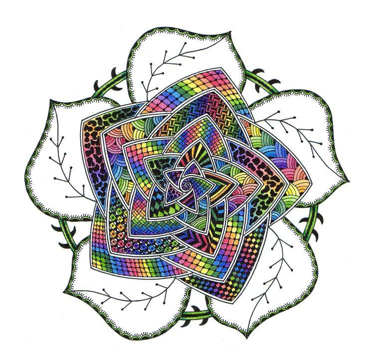 "www.mandala-beika.vpweb.nl ©Afbeelding 'roos' uit mijn boek: ""Werkboek zendala's tekenen"". www.uitgeverijakasha.nl"