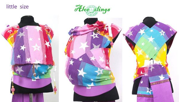 Aloe Slings: Kokadi Rainbow Stars Wrap Conversion (Baby) | Abernathy Naturals