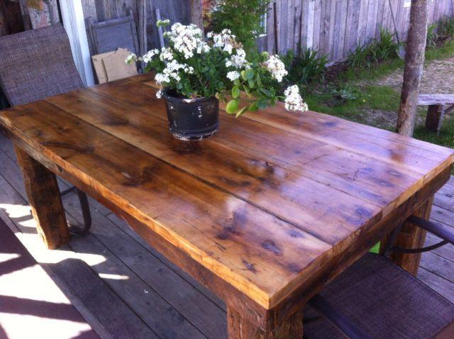 Table rustique chic fait selon vos mesures mobilier de for Table de salle a manger rustique