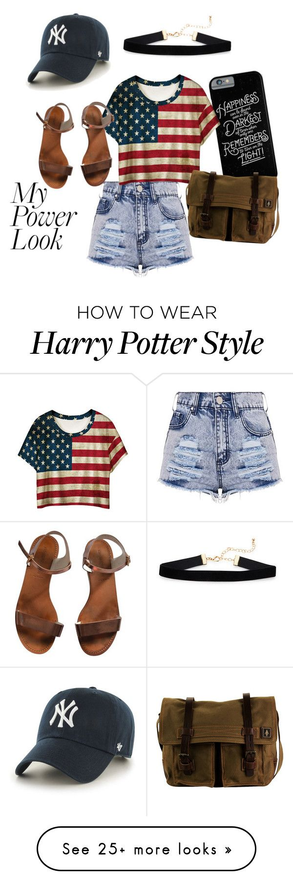 """""""My Power Look"""" by sknear on Polyvore featuring WithChic, Emporio Armani, '47 Brand and DamnDog"""