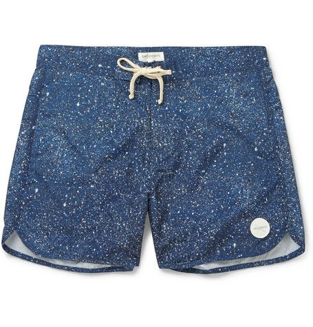 Saturdays Surf NYC Printed Swim Shorts.