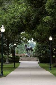 Man O' War ~  great Thoroughbred race horse, buried at Kentucky Horse Park ~ must go see this again!