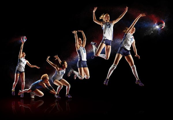 GB Olympic Volleyball Team by Simon Derviller, via Behance