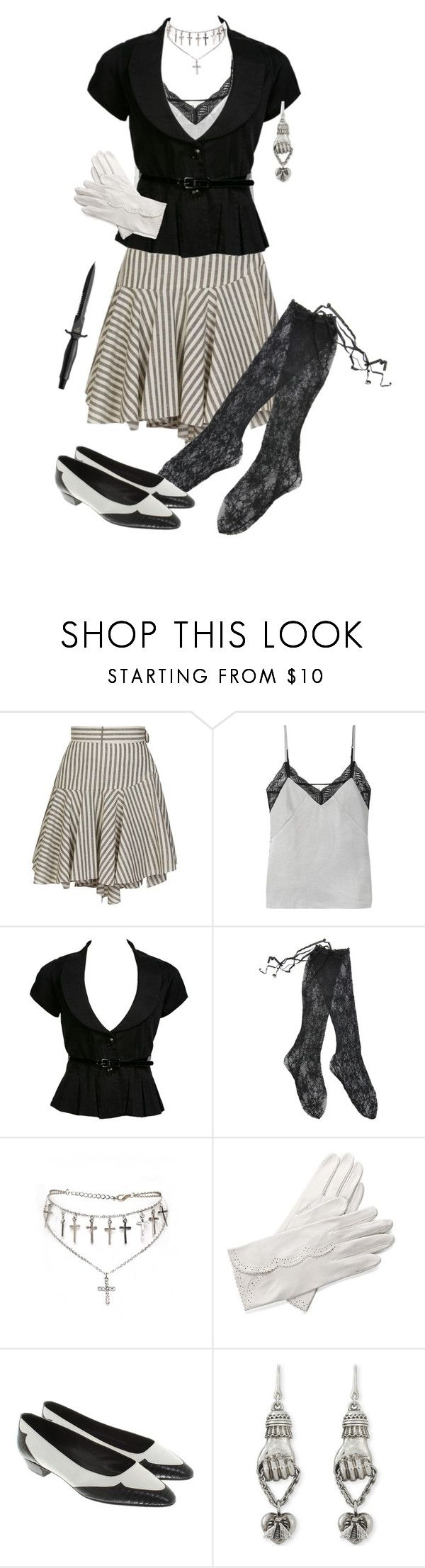 """""""Xe's Respectable"""" by vulture95 ❤ liked on Polyvore featuring Loewe, Maje, Fogal, Aspinal of London, Prada and Gucci"""