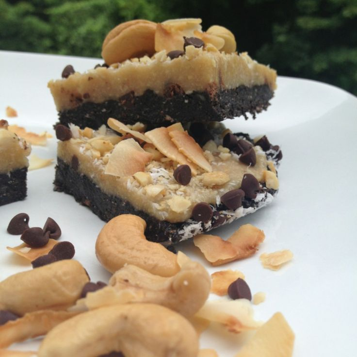 "CASHEW JOY"" NO BAKE BARS #iifym 