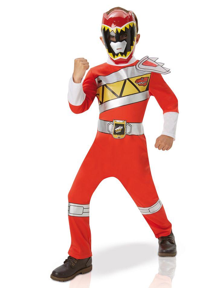Disfraz clásico Power Rangers™ Dino Charge rojo niño