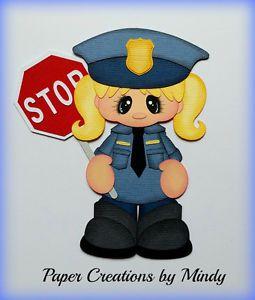 Craftecafe-oficial-de-policia-Girl-prefabricados-Paper-Piecing-pagina-de-Scrapbooking-Mindy