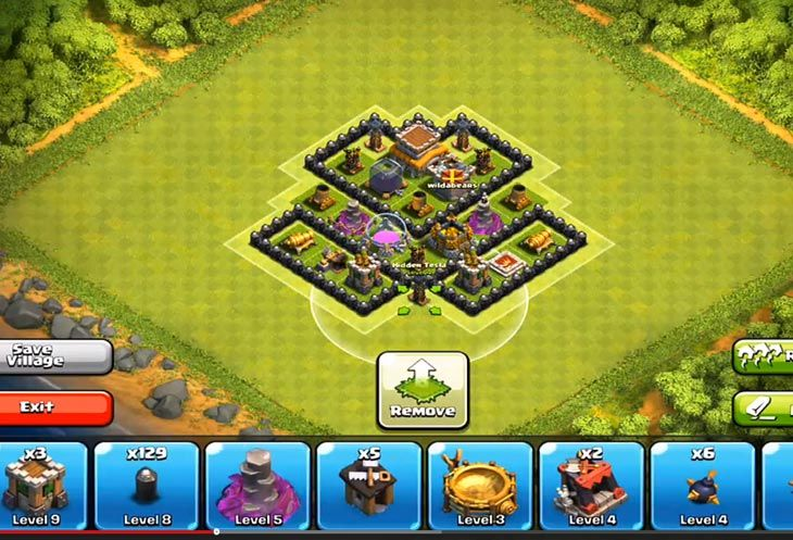 clash of clans base layout resource