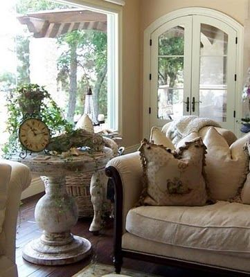 Photo from Little French Garden House-As you go into this site, there are a number of lovely tutorials for remodeling and refinishing.
