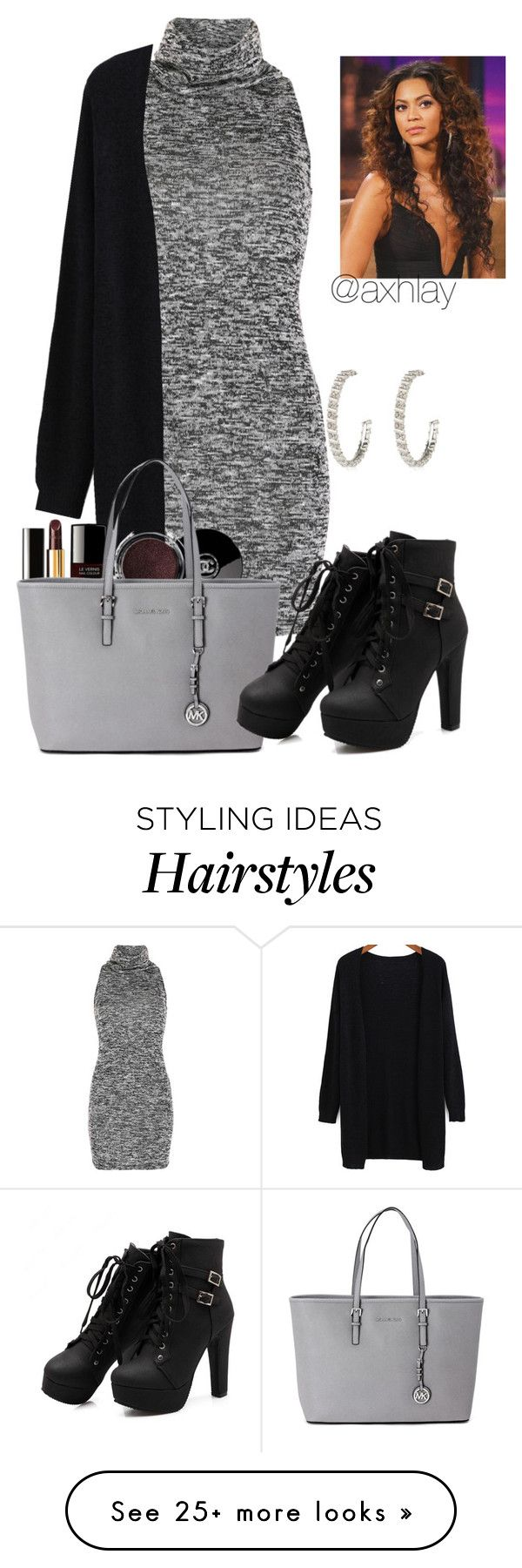 """Hair Flip"" by axhlay on Polyvore featuring Voulez Vous, Chanel, Michael Kors and River Island"