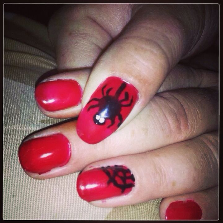 Halloween shellac nails | Shellac by Shellie | Pinterest