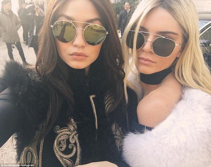 Kendall Jenner and Gigi Hadid swap hair colour at Balmain Paris Fashion Week | Daily Mail Online