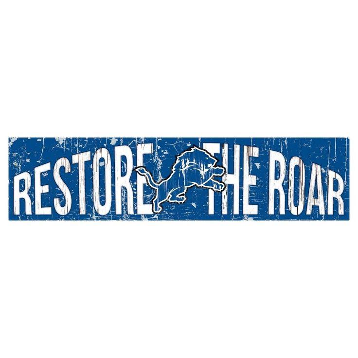 NFL Detroit Lions 24 Slogan Wood Sign