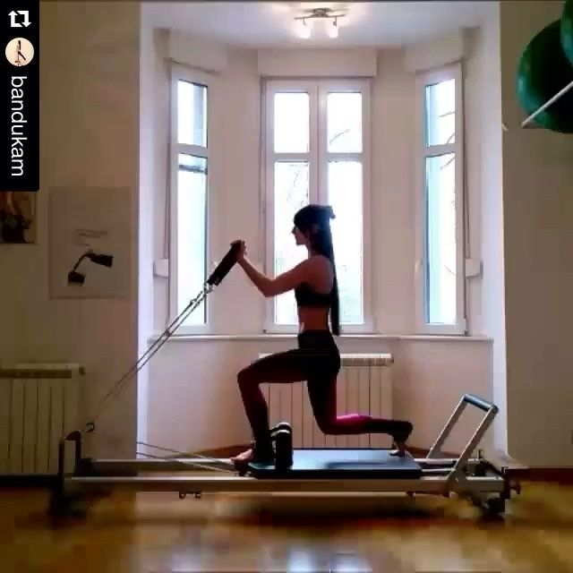 The stunning @bandukam is the next up for #InspireMeMonday. Many #Pilates exercises feel harder than they look (when executed correctly of course). This standing lunge/bicep combo definitely has the intimidation factor, but with the correct resistance and mind body connection might not be as difficult as you think. 'Like' the video so @bandukam has a chance to win the @toesox giveaway this month  Tag your Courtney Miller inspired videos #courtneymillerpilates to join the fun! One winner…