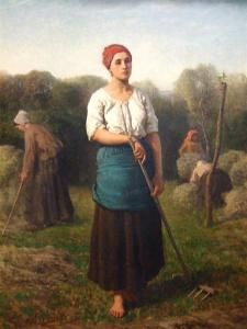 Jules Breton, Girl with a Rake, 1859