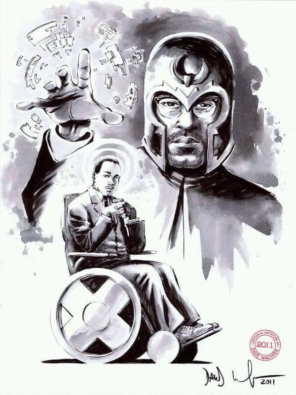 stan lee created prof x and magneto in 1963 as a direct correlation of mlk and malcolm x
