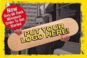 Custom skateboard deck printing