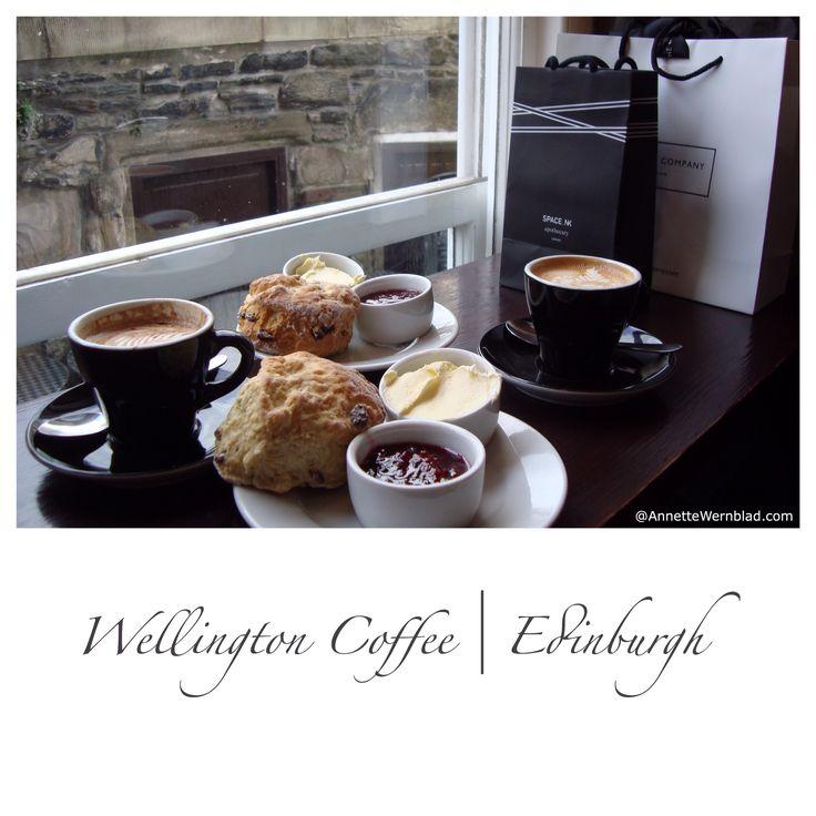 Coffee and scones at Wellington Coffee in Edinburgh. Wishing I was there ....   #edinburgh #coffee #scones #wellingtoncoffee
