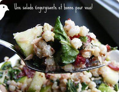 Jasmine Cuisine: Salade aux grains de blé, aux pommes et aux canneberges