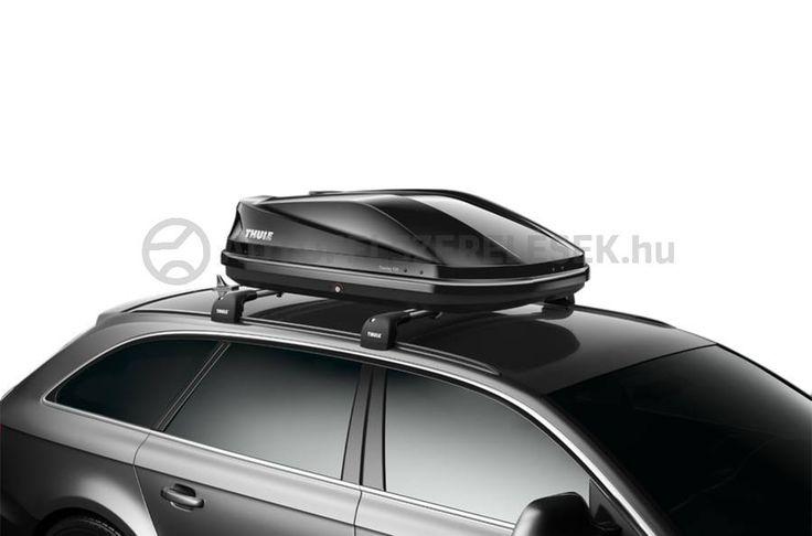 Integrált FastClick gyorsrögzítő rendszer, kétoldalas nyitás, központi zár: Thule Touring 100 tetőbox. https://autofelszerelesek.hu/thule_634101_fekete_metal_tetobox