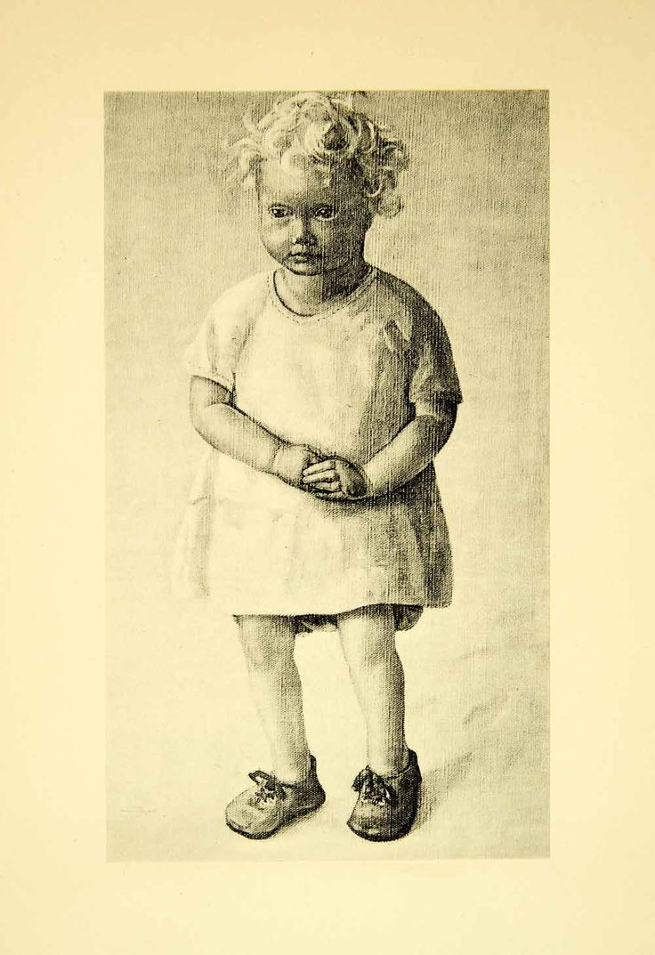 1931 Collotype Joan Manning-Sanders Baby Portrait Child Infant Blond Shoes XAAA9