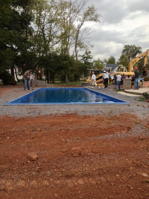 1000 Images About Fiberglass Pool Install 27 On Pinterest Paver Installation Shape And Trucks