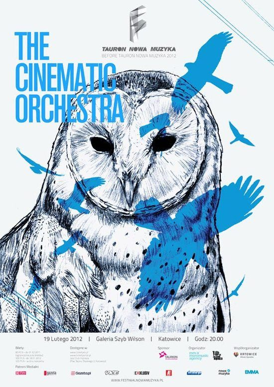 Owl, Before Tauron Nowa Muzyka 2012, poster, blue