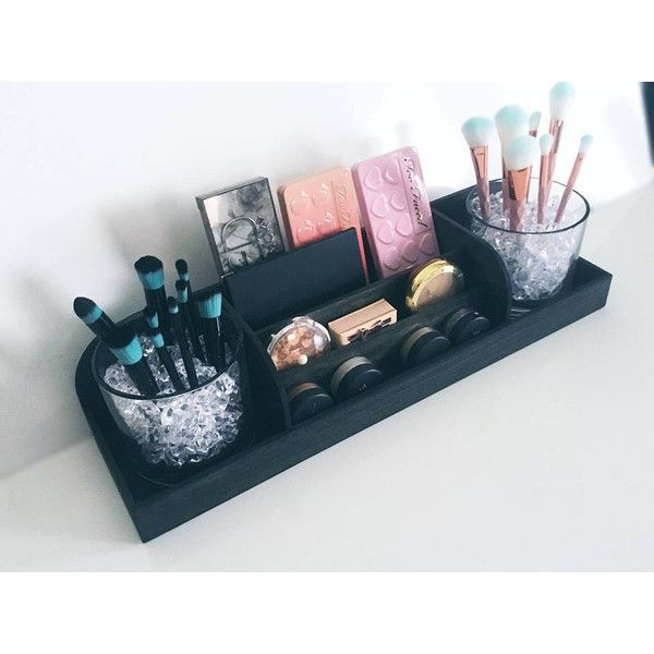 Makeup Vanity Organizer Eye Palette Organizer Makeup Organizer Beauty... ($105) ❤ liked on Polyvore featuring beauty products, makeup, eye makeup, bath & beauty, eyes, makeup & cosmetics, white and palette makeup