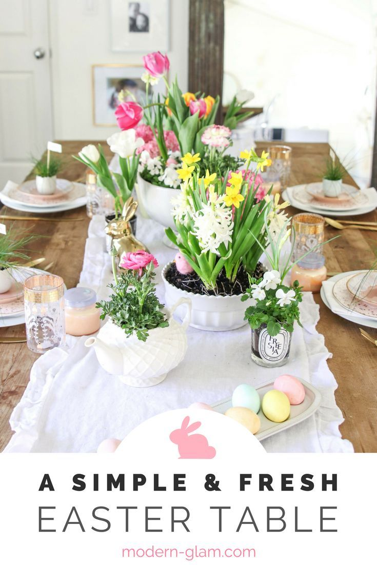 a simple and fresh easter table | hometalk: spring inspiration