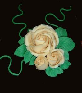 Roses en p te d 39 amande pour d cors d 39 entremets - Deco gateau pate d amande ...