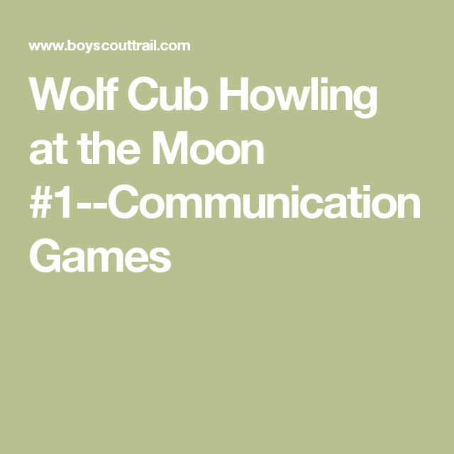 Wolf Cub Howling at the Moon #1--Communication Games