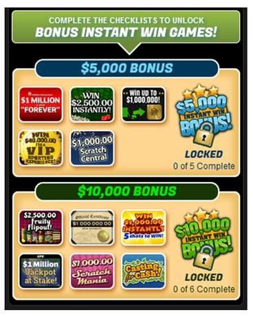 Nj lottery instant games unclaimed prizes from pch