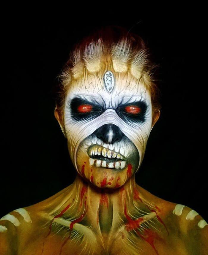 265 best Painting Faces images on Pinterest | Halloween makeup ...