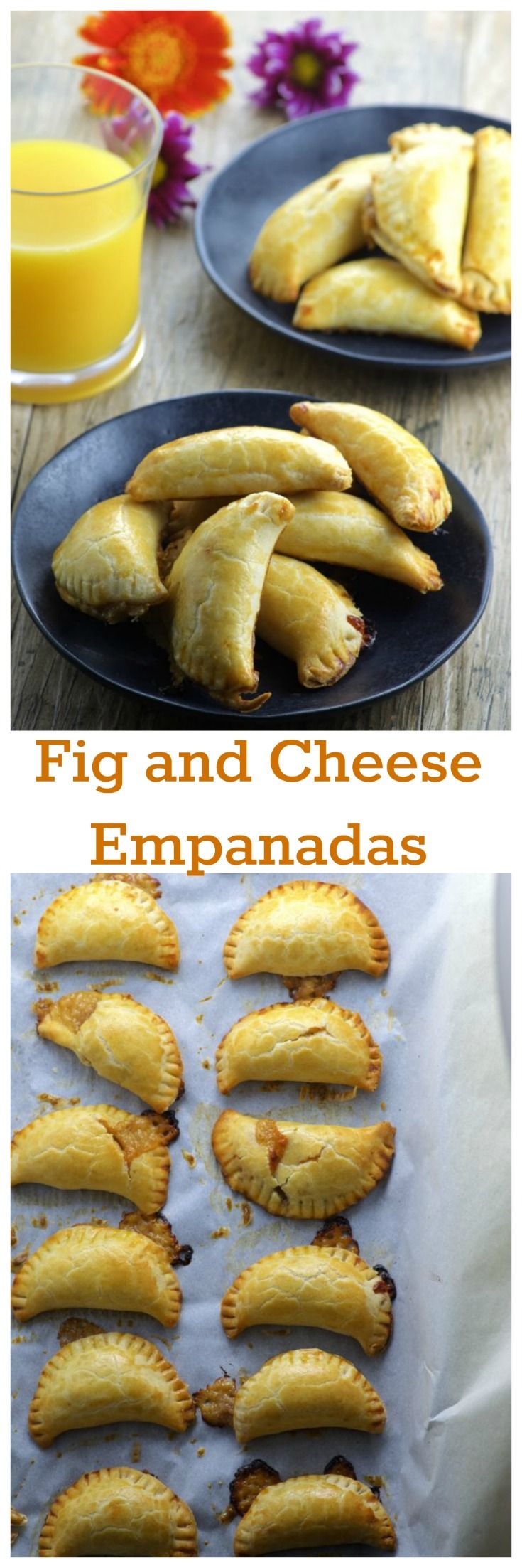 Fig and Cheese Empanadas : heavenly sweet and savory combination.