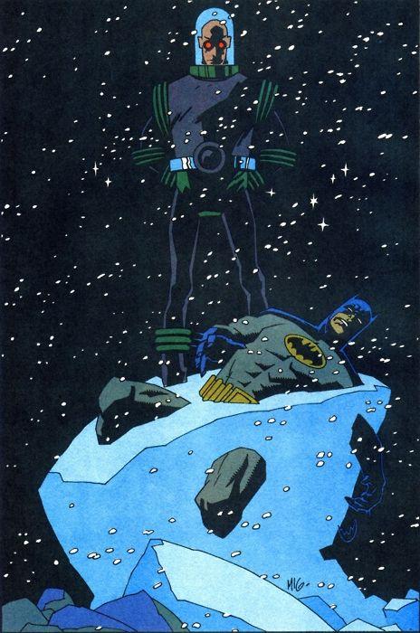Batman & Mr Freeze by Mike Mignola