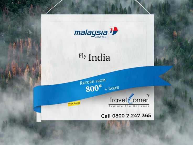 February makes your Travel amazing.. Fly to India with Malaysia Airlines... Best experience on Cheapest Rate.... Call now 0800 2 247 365 or or Book online Travel Dates: 01 Mar 18 to 31 Aug 18 Sales Expiry 16 Feb 18