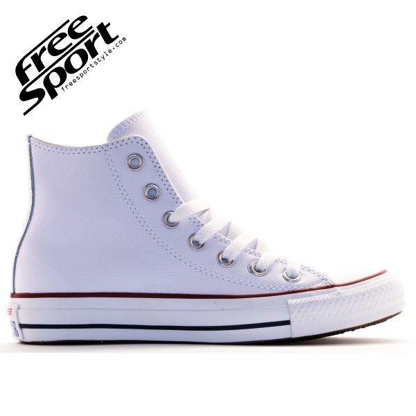 Converse All Star Bianca Alta in Pelle 132169C http://freesportstyle.com/converse/586-converse-all-star-bianca-alta-in-pelle-132169c.html