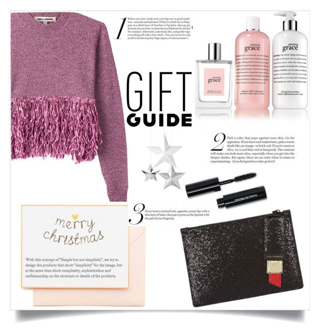 """""""Gift guide"""" by collinsangelface110 ❤ liked on Polyvore featuring philosophy, McQ by Alexander McQueen, Bobbi Brown Cosmetics, Joie, Meri Meri, Lulu Guinness and giftguide"""