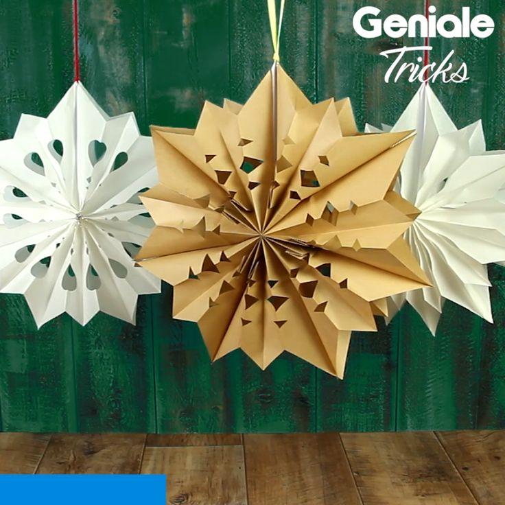 Weihnachtsstern aus Butterbrottüte    – Weihnachten – DIY Baumschmuck, Deko und Geschenke