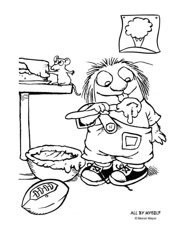 Mercer mayer coloring pages printable mercer best free for Little critter coloring pages