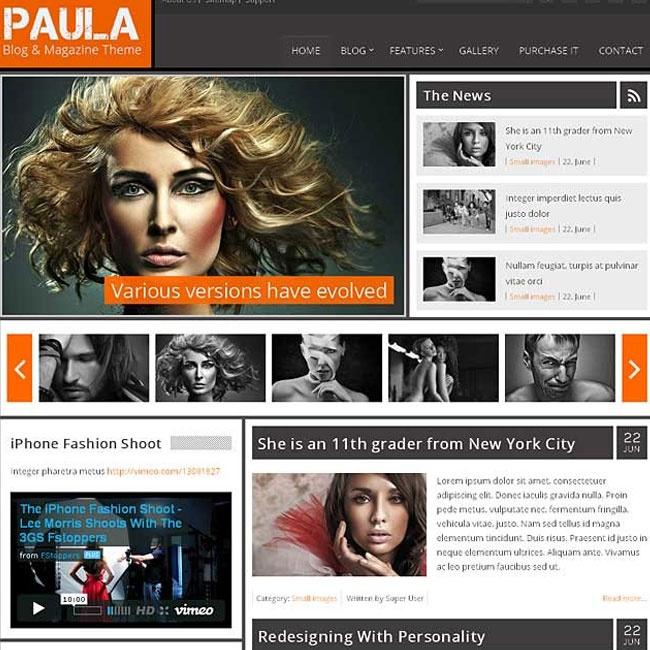 Paula Joomla Template for Blog and Magazine
