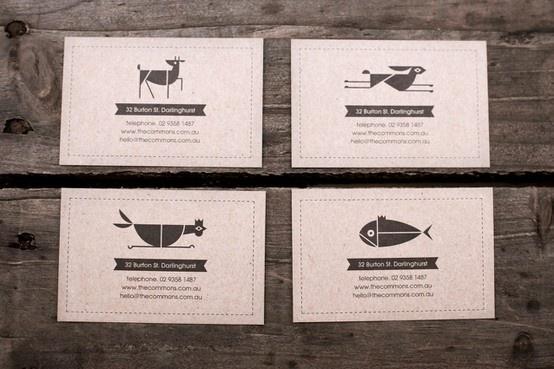 geometric animals - restaurant opening cards