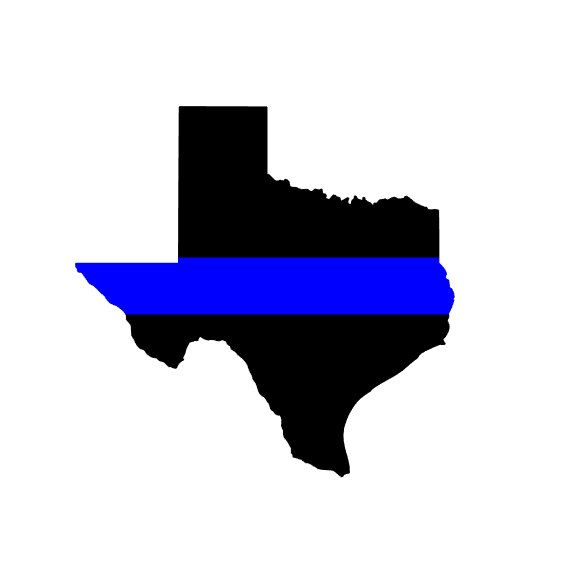 Support Texas Police / Texas Thin blue Line Vinyl Decal by BellezzaSundries on Etsy