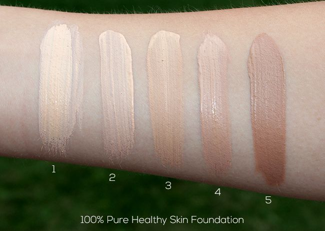 100% PURE Healthy Skin Foundation with Super Fruits Swatches | 100 ...