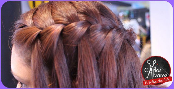 Si quieres un peinado casual, hermoso y fácil de hacer, la trenza cascada es una gran opción.
