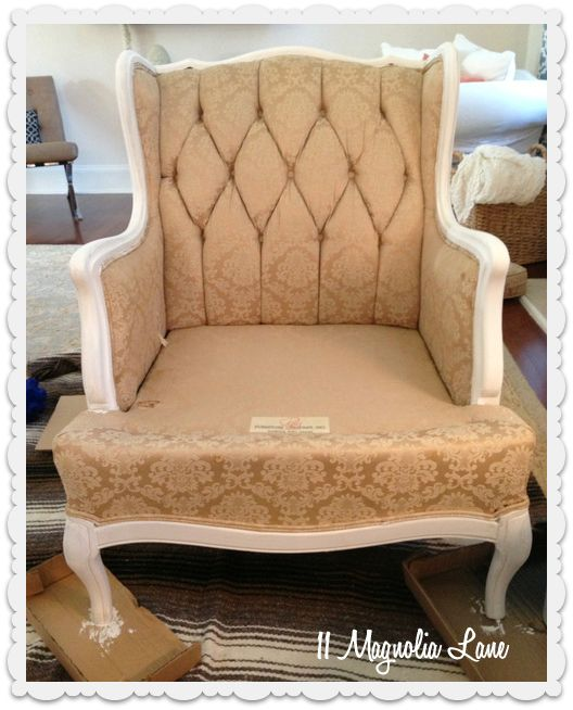 tutorial how to paint upholstery fabric and completely transform a chair upholstery how to. Black Bedroom Furniture Sets. Home Design Ideas
