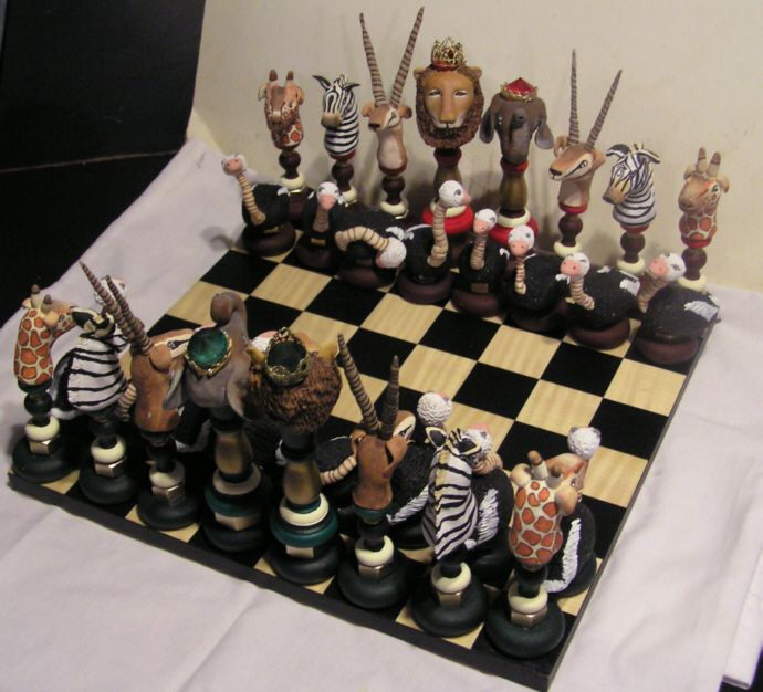 Animals of Africa Chess Set